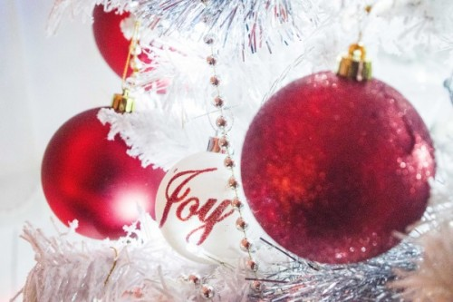 Christmas Bauble with the word Joy