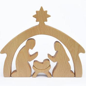 wooden crib scene